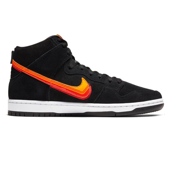 Nike SB Dunk High Pro Black University Gold Team Orange