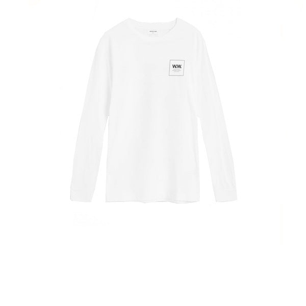 WOOD WOOD Han Long Sleeve T-Shirt Bright White