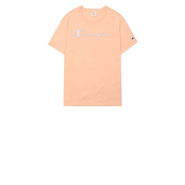 Champion Pinstripe Logo T-Shirt Peach