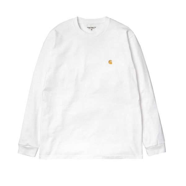 Carhartt L/S Chase T-Shirt White Gold