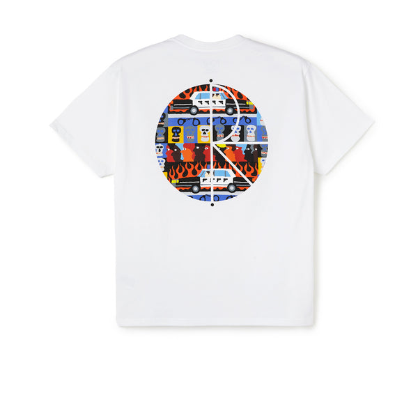 Polar ACAB Fill Logo Tee White