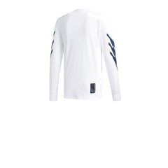 Adidas Tennis L/S Tee White Real Teal Tribe Purple