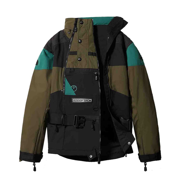 The North Face Steep Tech Apogee Anorak Burnt Olive Green/Evergreen/TNF Black