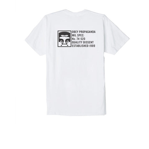 Obey Half Face Mil Spec Tee White