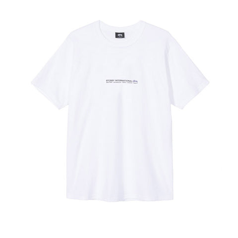 Stussy Fire Palm Tee White