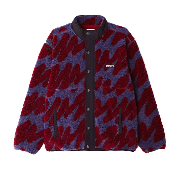 Obey Hense Sherpa Jacket Purple Multi