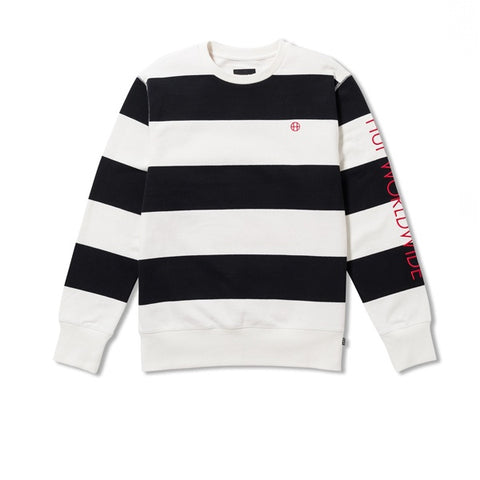 HUF Catalina Stripe Crew Black