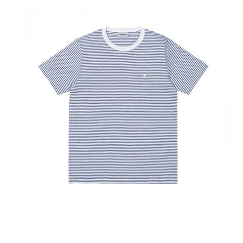 Carhartt S/S Gordon T-Shirt Gordan Stripe Glacier White