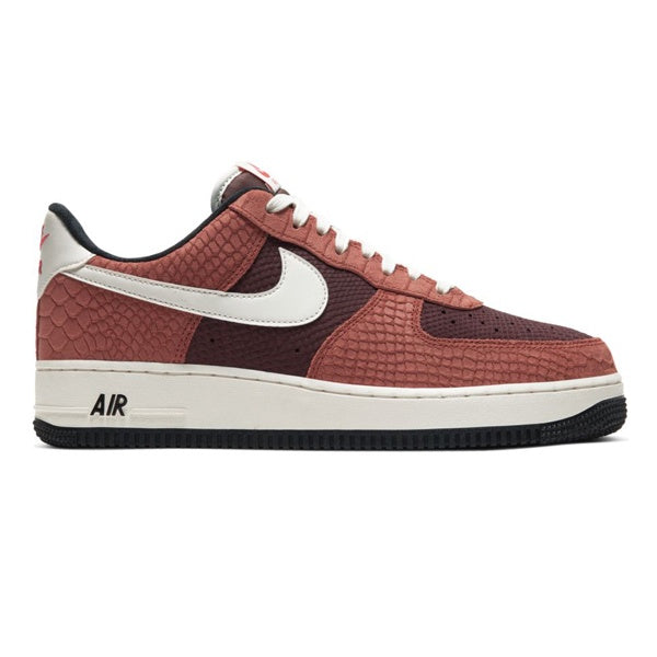 Nike Air Force 1 Premium Red Bark Sail Earth University Red
