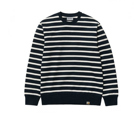 Carhartt Manson Sweatshirt Stripe Black Grey Heather