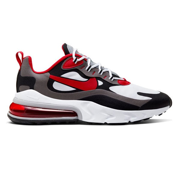 Nike Air Max 270 React Black University Red White Iron Grey