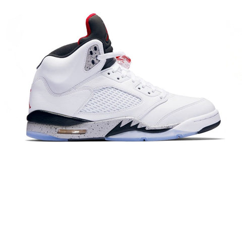 Air Jordan 5 Retro White University Red Black