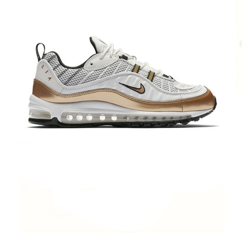 Nike Air Max 98 UK Summit White Matallic Gold