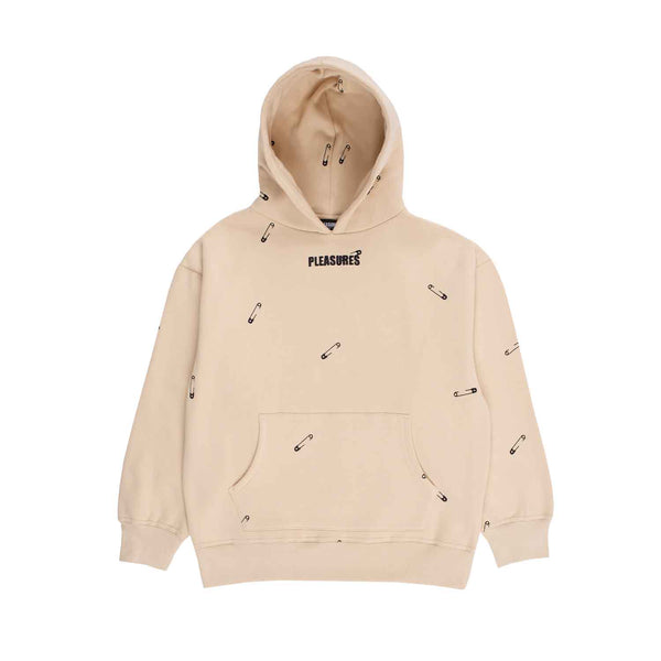 Pleasures Safety Embroidered Hoody Creme