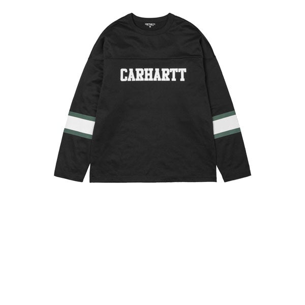 Carhartt L/S Thorpe College T-Shirt Black White