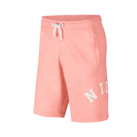 Nike Washed Shorts Bleached Coral Summit White