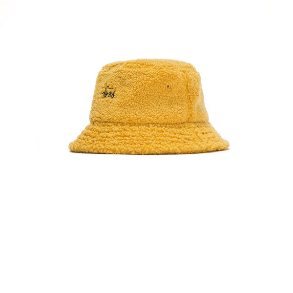 Stussy Sherpa Fleece Bucket Hat Yellow – Kong Online 53c9fdca56d