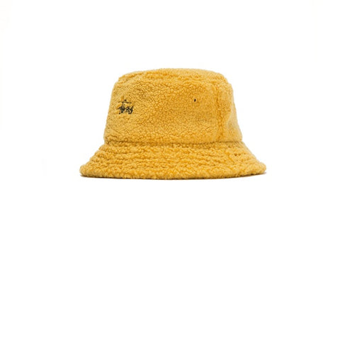 Stussy Sherpa Fleece Bucket Hat Yellow