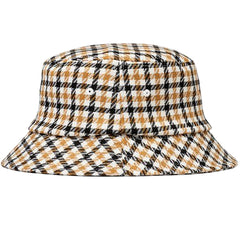 Stussy Big Logo Check Plaid Bucket Mustard