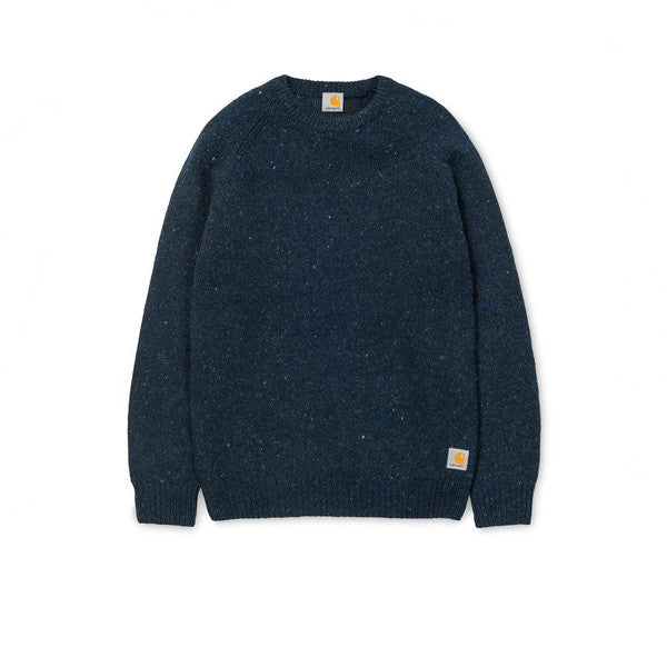 Carhartt Anglistic Sweater Navy Heather - Kong Online