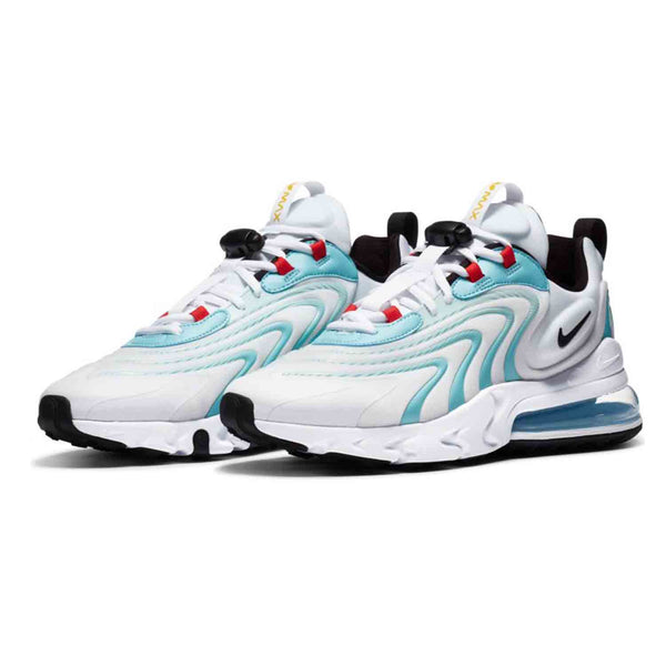 Nike Air Max 270 React ENG White Black Bleached Aqua