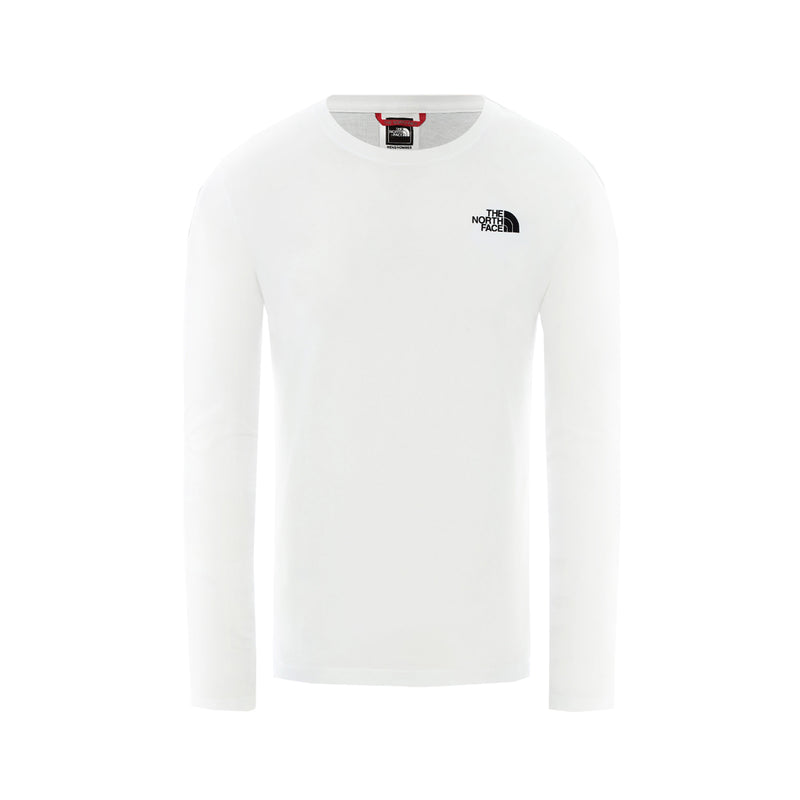 The North Face LS Red Box Tee White
