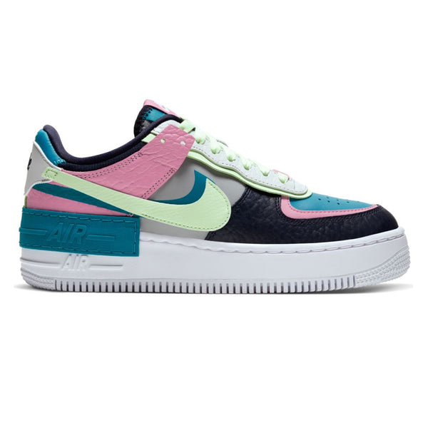 Nike W AF1 Shadow SE Lt Smoke Grey Barely Volt Oracle Aqua