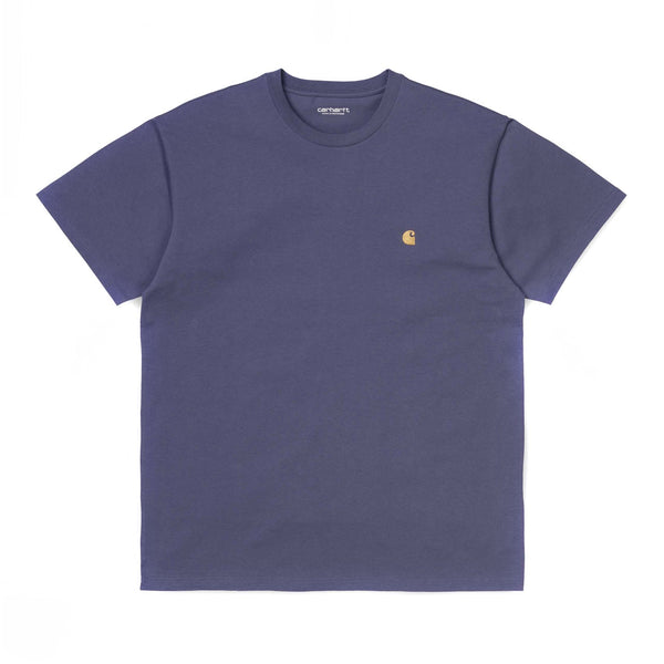 Carhartt WIP SS Chase T Shirt Viola Gold