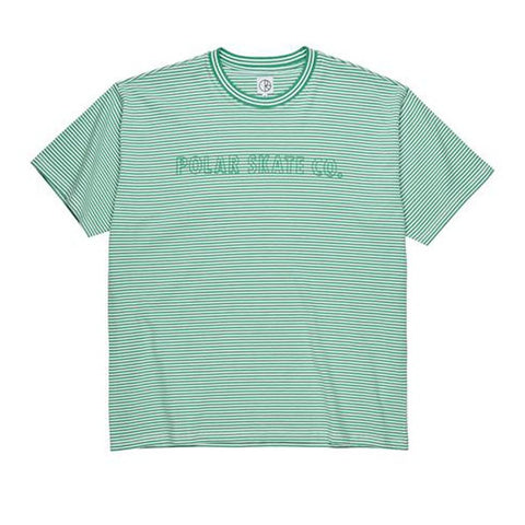 Polar Outline Stripe Tee Green