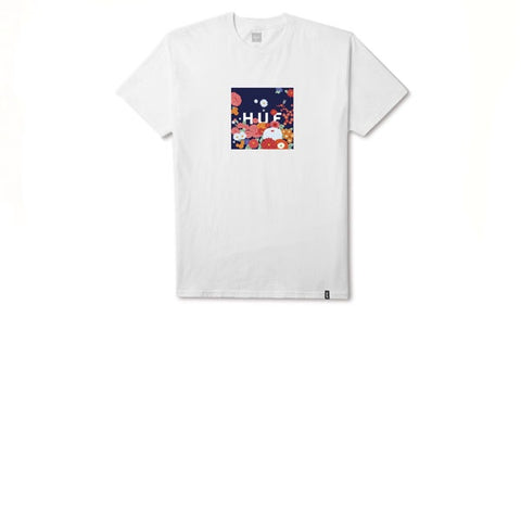 HUF Memorial Box Logo S/S T-Shirt White