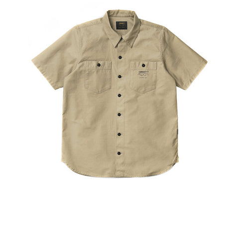 Carhartt S/S Curt Shirt Gobi Back Stone Washed