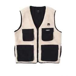 Obey Mountaineer Vest Natural Multi