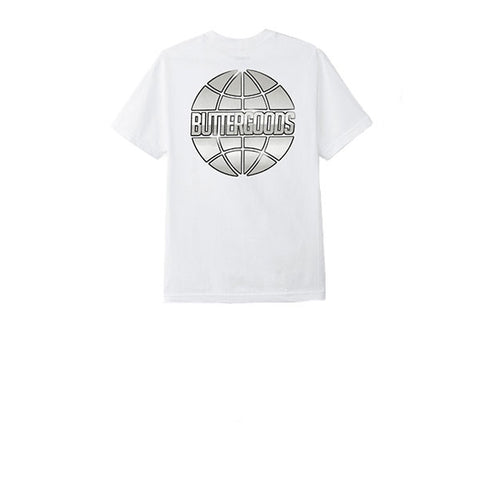 Butter Goods Butter Chrome Worldwide Tee White