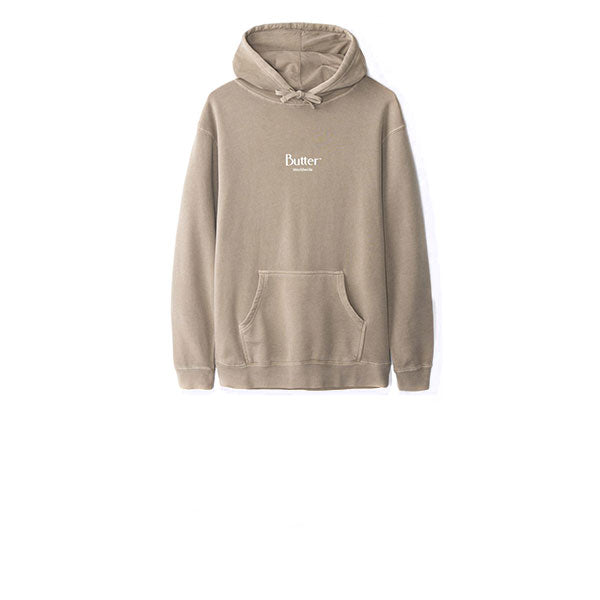 Butter Goods Pigment Dye Micro Classic Logo Pullover Sandstone