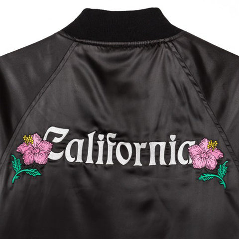 Stussy California Satin Jacket Black