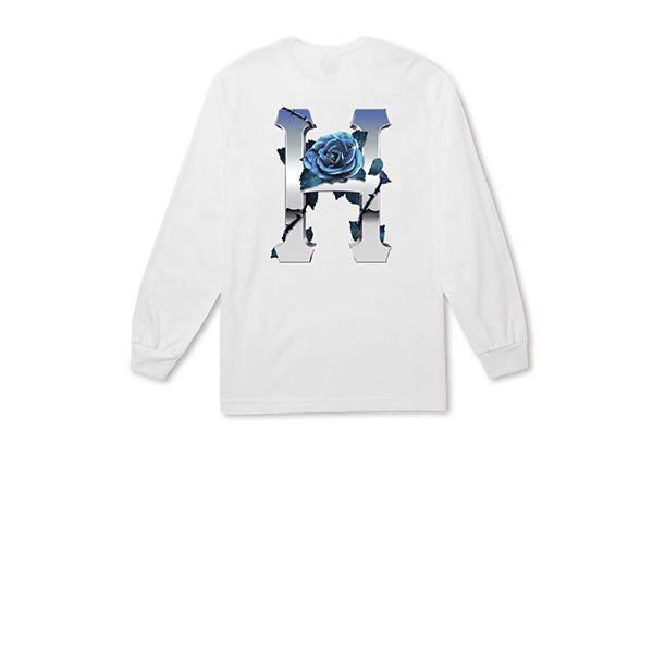HUF Ice Rose Classic H L/S Tee White
