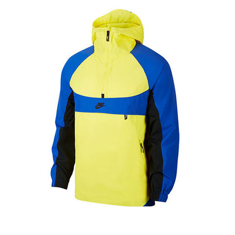 Nike Re-issue Jacket HD Woven Dynamic Yellow Royal Blue