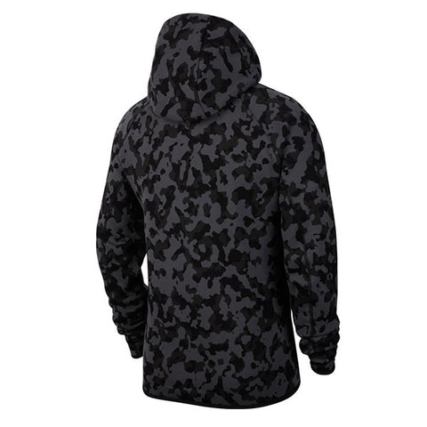Nike Tech Fleece FZ Hoodie AOP Black Black