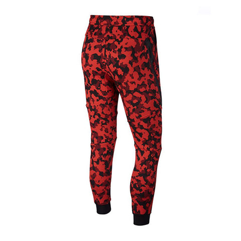 Nike Tech Fleece Jogger AOP Pueblo Red Black