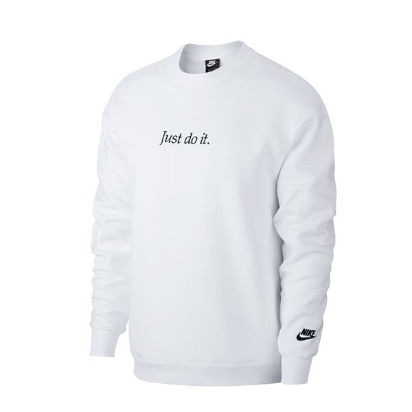 Nike Just Do It Crew Fleece White Black