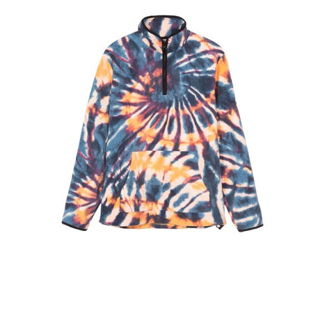 Stussy Tie Dye Fleece Mock Multi