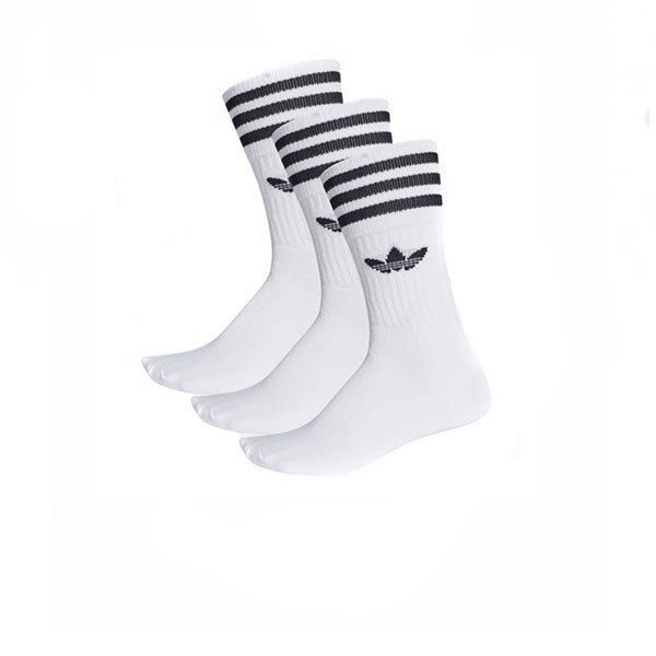 Adidas Solid Crew Sock White Black