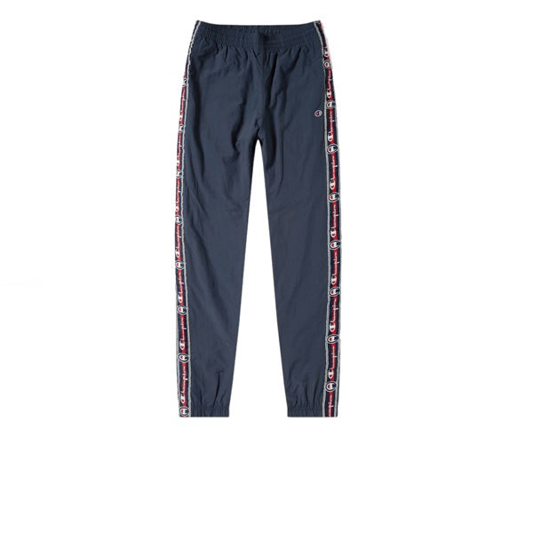 Champion Elastic Cuff Pants Tape Script Navy