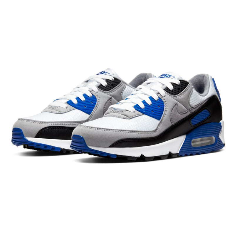 Nike Air Max 90 White Partical Grey Hyper Royal Black