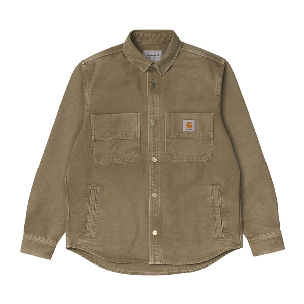 Carhartt WIP Glenn Shirt Jacket Organic Cotton Hamiliton Brown Worn Canvas