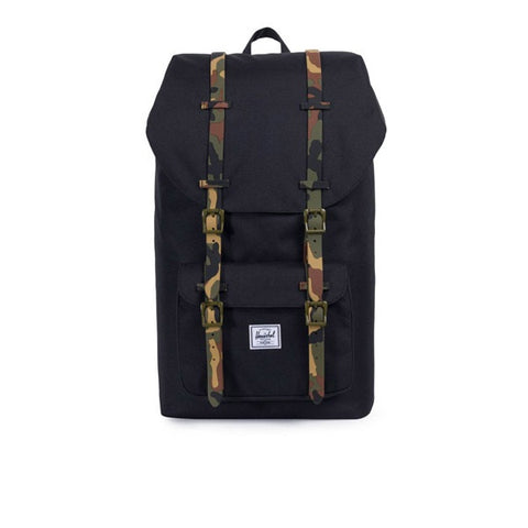 Herschel Little America Backpack Black Woodland Camo