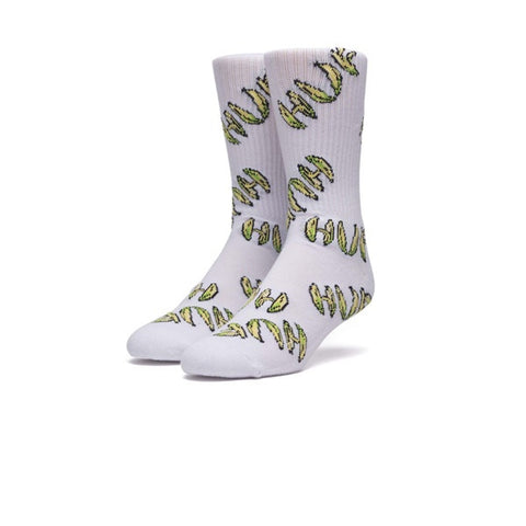 HUF Banana Socks White