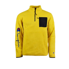 Champion Half Zip Fleece Top Yellow Black
