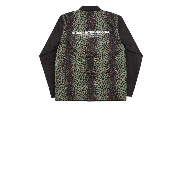 Stussy Leopard Panel Jacket Black