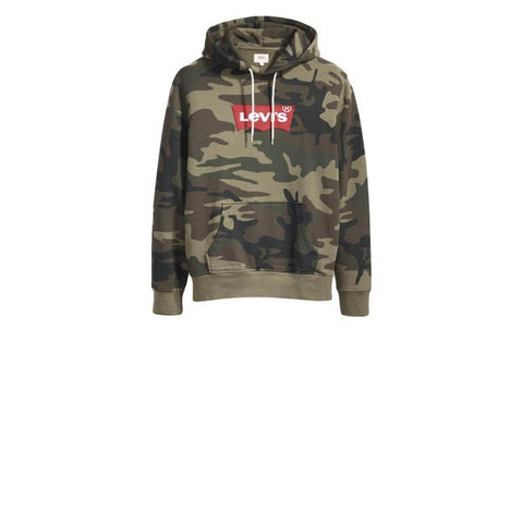 Levis Modern HM Hoodie Green Camo Patch
